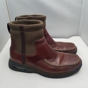 COLE HAAN Air Sole Brown Leather and Green Boots